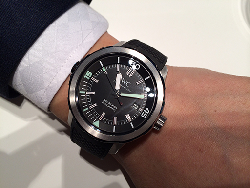 Black Dial IWC Aquatimer Automatic Rubber Strap Steel Replica Watch