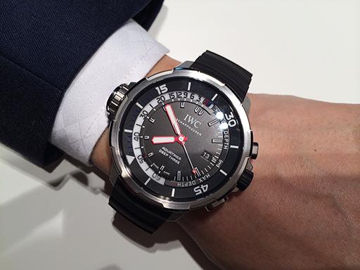 IWC Aquatimer Deep Three Caoutchouc Strap Titanium Watch Replica