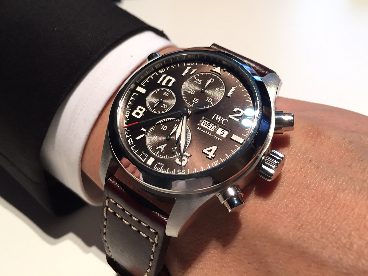 best service a250d 35894 SIHH 2016 IWC 新作 パイロット・ ウォッチ・ ダブルクロノ ...